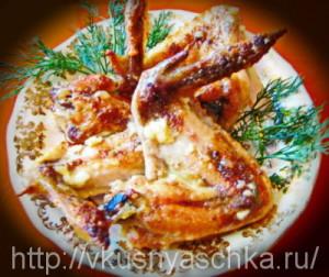 krilja v majonezno-chesnochnom souse